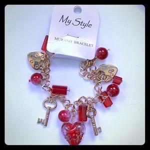 Key to my heart ❤️ charm bracelet.
